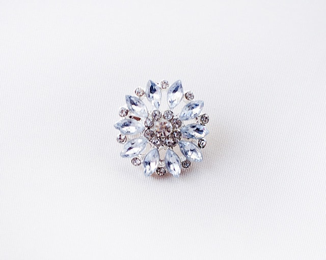 25mm Marquise Crystal Brooch