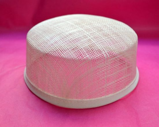 "Sinamay Pillbox Hat Base (2"" Height)"