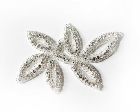 Bosca Leaf Rhinestone Applique