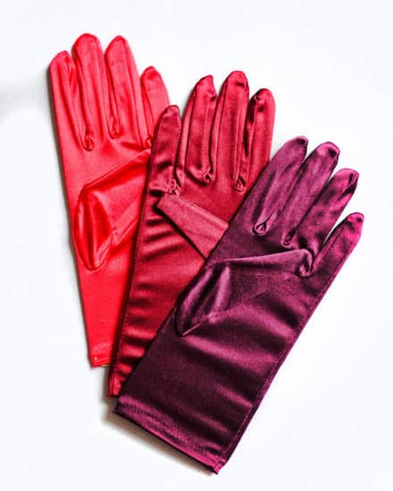 Short Satin Gloves (Choose Your Color)