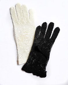 Short Cotton Crochet Gloves