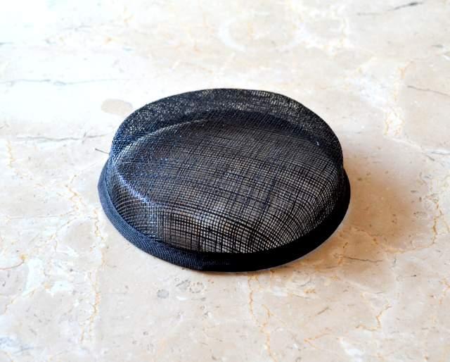 "Sinamay Short Pillbox Hat Base (1"" Height)"