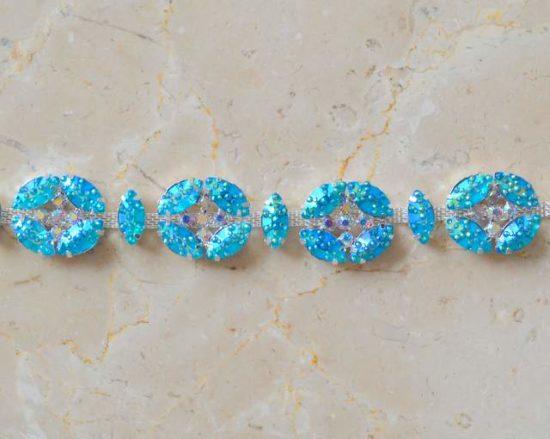 Textured Acrylic Jewel Chain