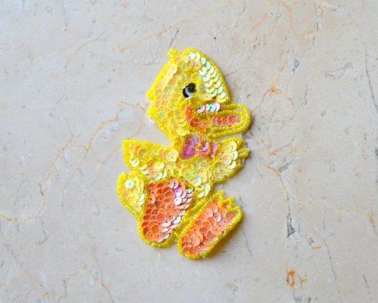 Little Duck Sequin Applique
