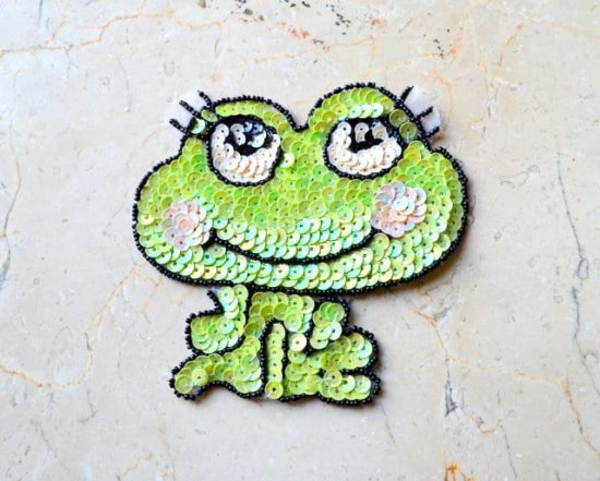 Sequin Frog Applique