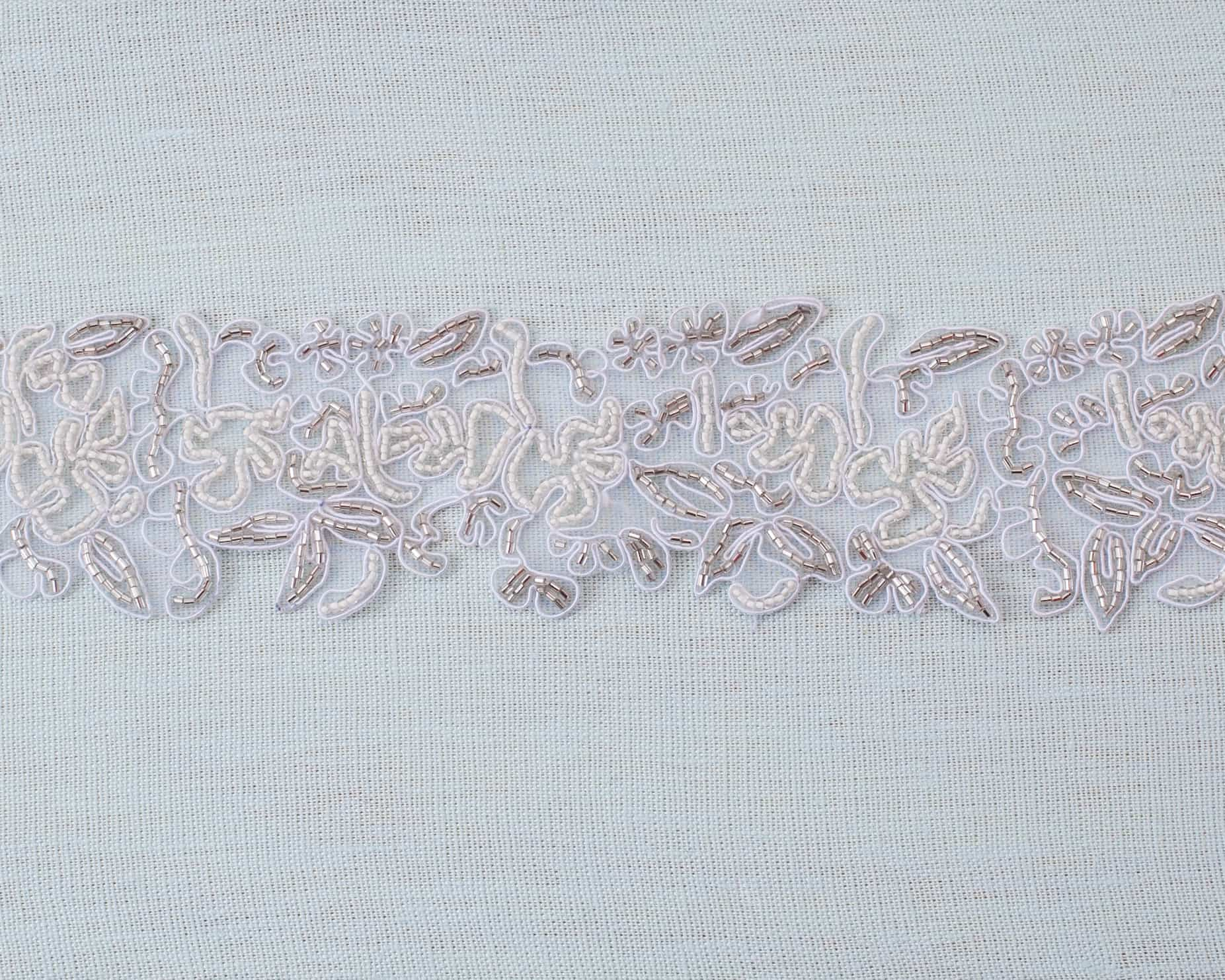 Georgette Embroidered Beaded Band