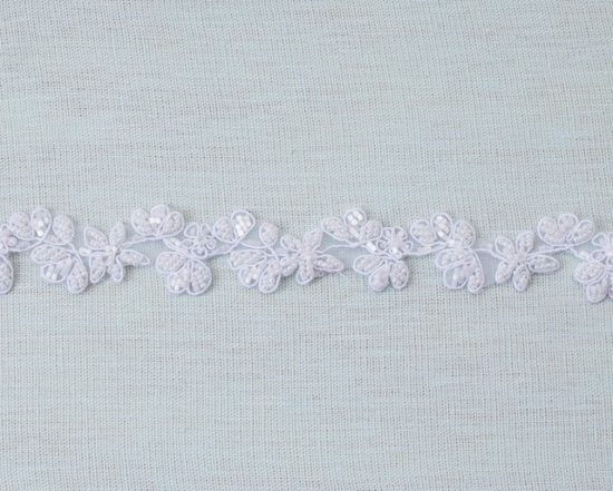 Beaded Floral Trim (Solid Colors)