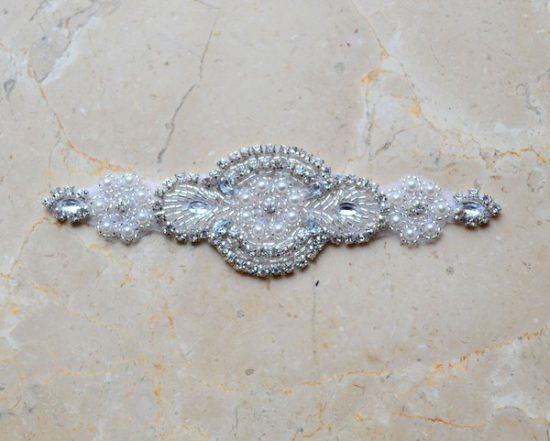 Etta Rhinestone Pearl Applique (Iron-On)