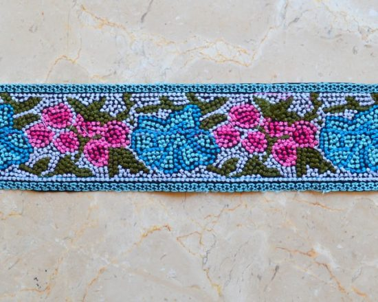 Embroidered Floral Mosaic Trim (Iron-On)