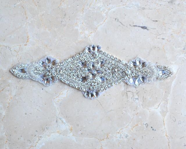 Marquesa Crystal Rhinestone Applique (Iron-On)