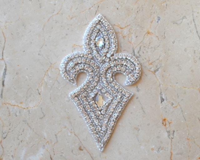 Audra Emblem Rhinestone Applique