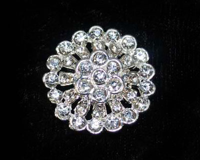Round Rhinestone Button