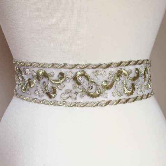 Hephsie Embroidered Beaded Band