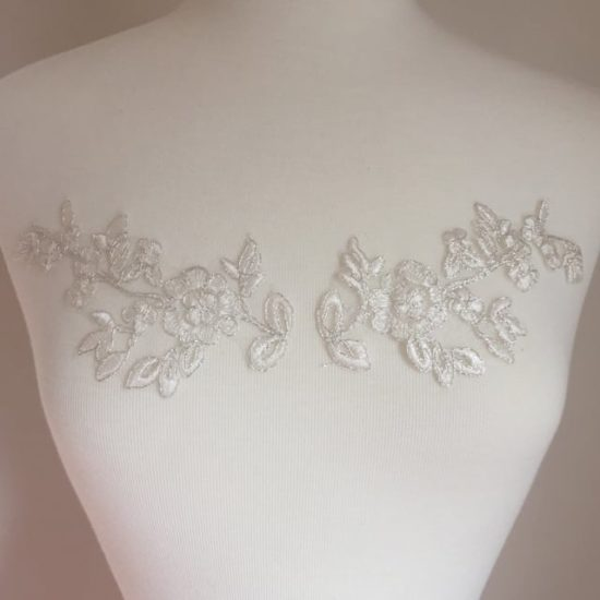 Matching Joy Embroidered Lace Applique