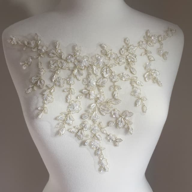 Talia Beaded Embroidered Lace Applique