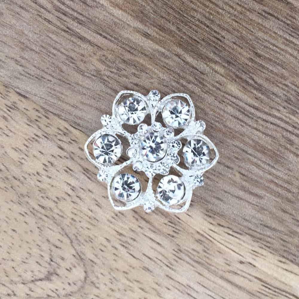 Fleur Silver Button
