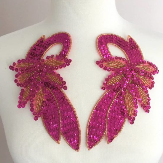 Matching Carnaval Sequin Beaded Applique