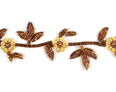Delicate Bead Flower and Leaf Trim
