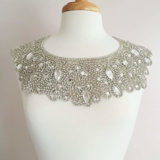 Octavia Crystal Rhinestone Neckpiece (Iron-On)