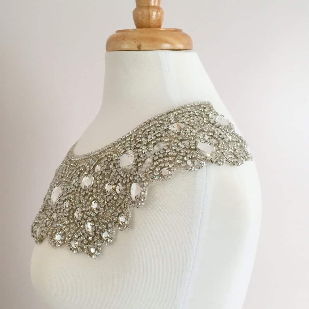 Octavia Crystal Rhinestone Neckpiece (Iron-On)
