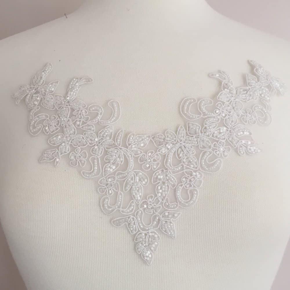 Demeter Embroidered Beaded Neckpiece