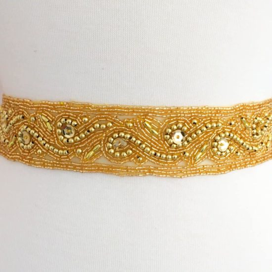 Wide Deborah Beaded Band
