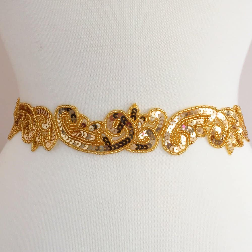 Paola Sequined Beaded Trim