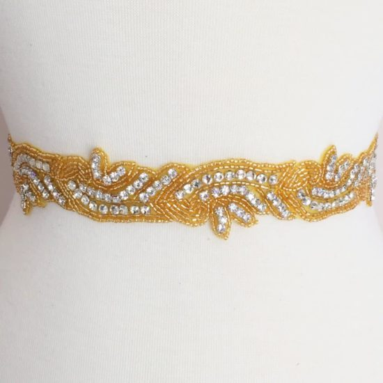 Gold Jules Rhinestone Beaded Trim