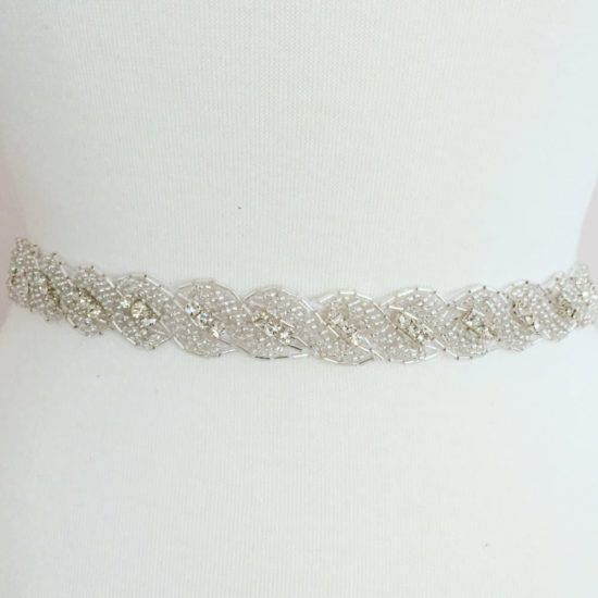 Alexa Twist Rhinestone Beaded Trim