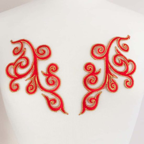Matching Swirl Embroidery (Iron-On)
