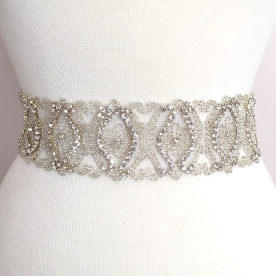 *SALE* Claudette Wide Rhinestone Beaded Trim