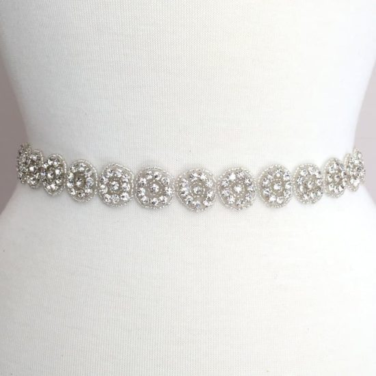 Round and Round Rhinestone Beaded Trim