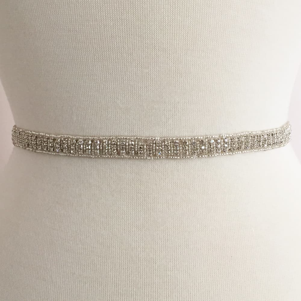 Simple Rhinestone Bead Band (Iron-On)