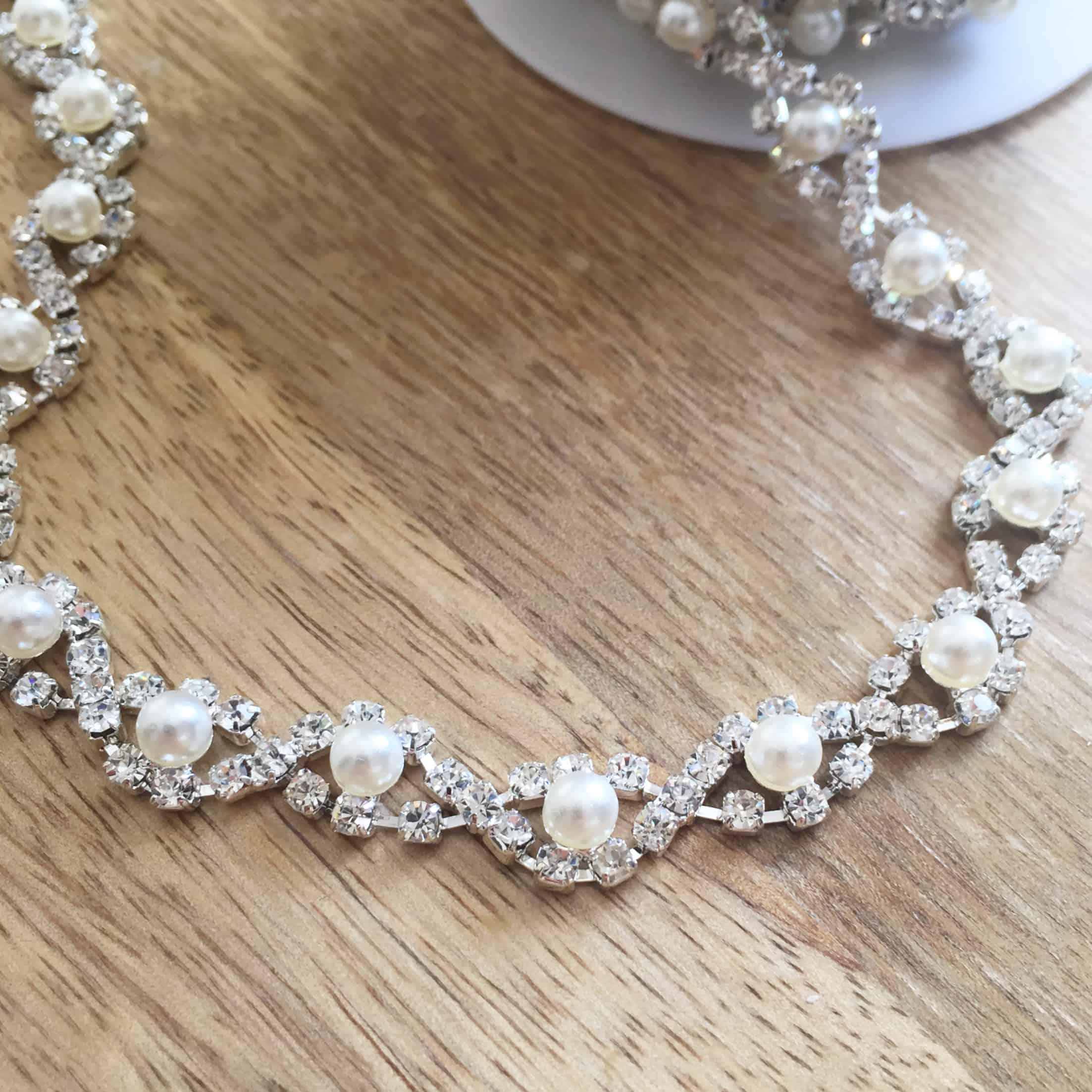 Petit Mina Rhinestone Pearl Chain