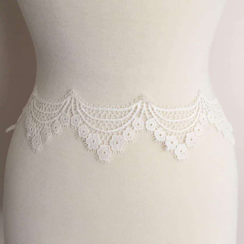 Vintage Style Scallop Cotton Lace Trim