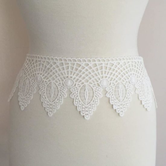 Art Deco Cotton Border Lace Trim