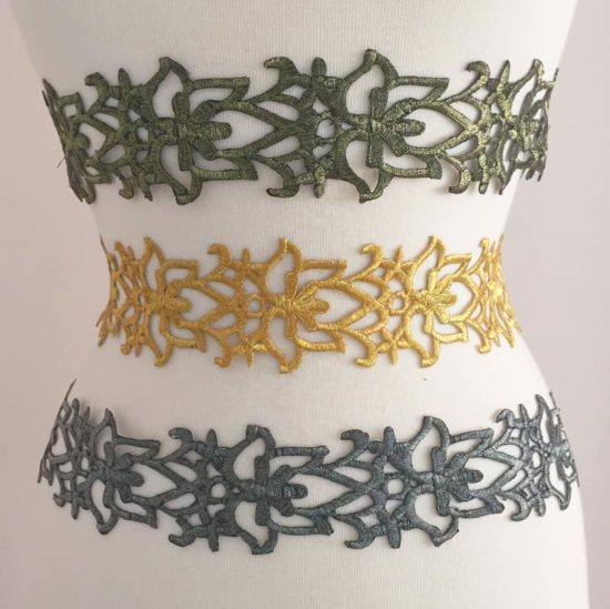 Embroidered Metallic Trim (Iron-On)
