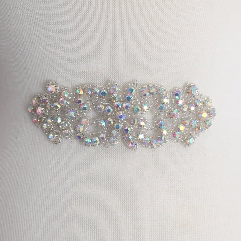 Bella AB Silver Emblem Rhinestone Applique
