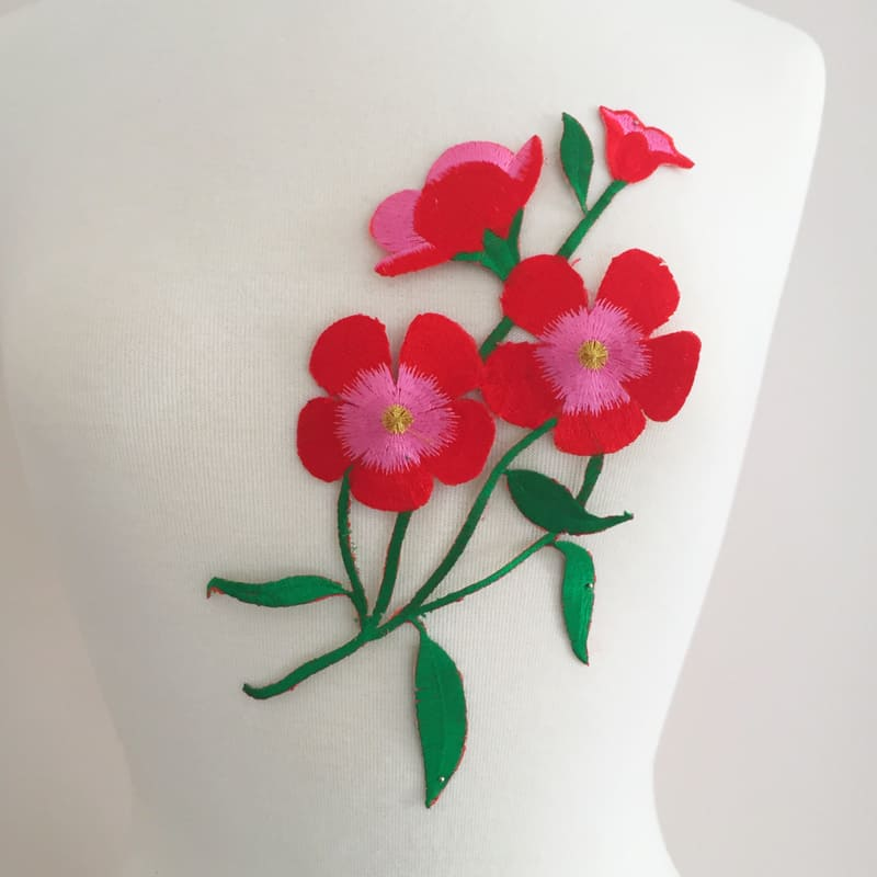 Embroidered Petunia Flower (Iron-On)