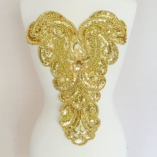 Large Bead Sequin Chestpiece