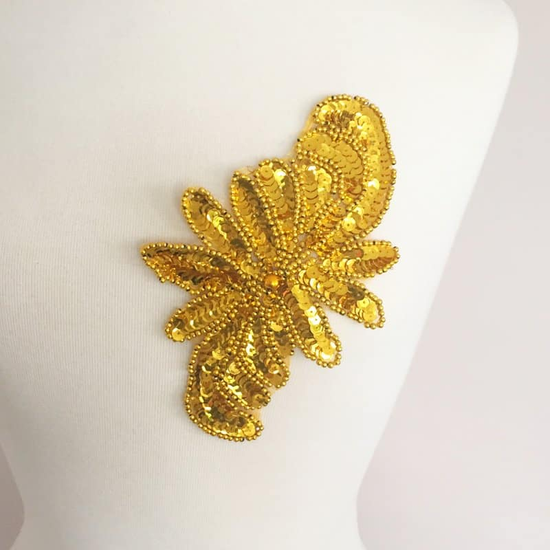 Sequin Bead Motif (Gold or Silver)