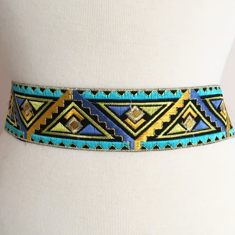 Tribal Deco Embroidered Trim (Iron-On)