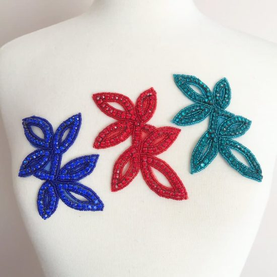 Bosca Leaf Rhinestone Applique (COLORS)