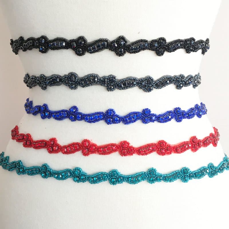 Chiqui Narrow Rhinestone Trim (Colors)