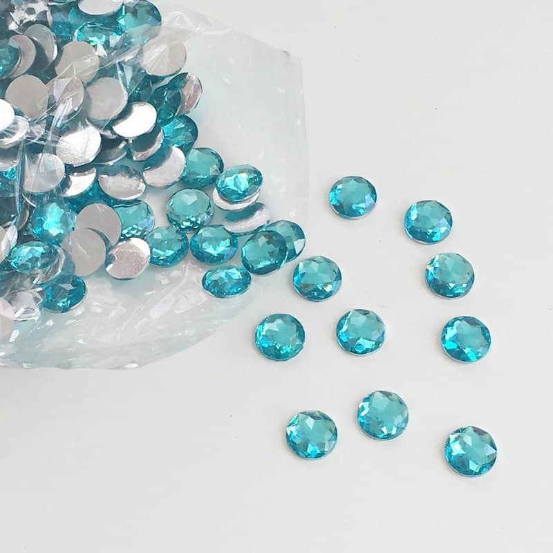 Turquoise Round Acrylic Gem Stones 13mm (Pack of 200)