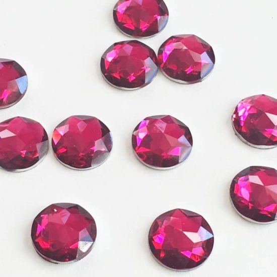 Fuschia Round Acrylic Gem Stones 13mm (Pack of 200)