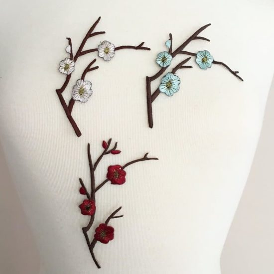Cherry Blossom Embroidery (Iron-On)