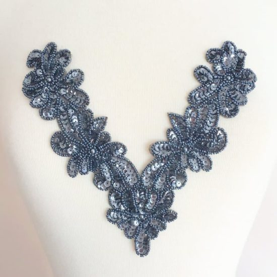 Viola Beaded Sequin Neckpiece