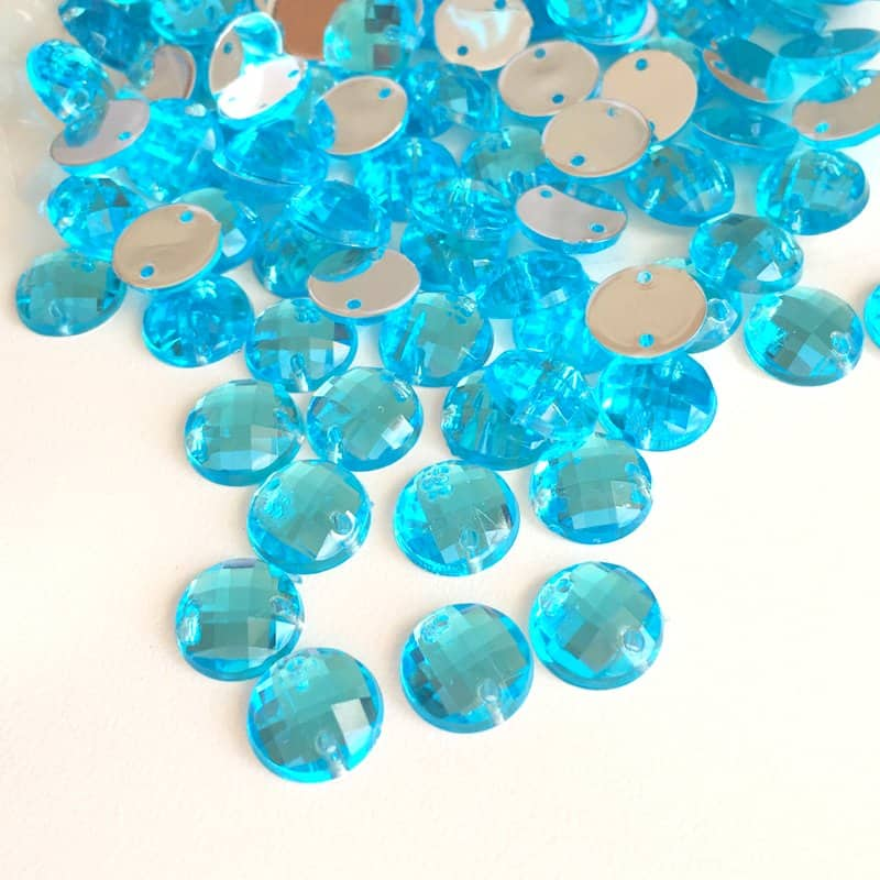 Turquoise Round Acrylic Gem Stones 10mm (Pack of 250)