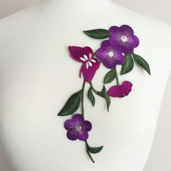 Butterfly Petunia Embroidery (Iron-On)